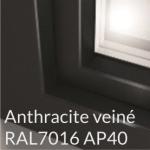 Antrhacite veiné RAL7016