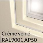 Crème veiné RAL9001